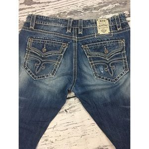Rock Revival Jeans - Rock Revival Jeans - Leon Relaxed Straight - 38x32